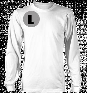 Kaos Combed 20s Putih Lengan Panjang Size Polos Gambar