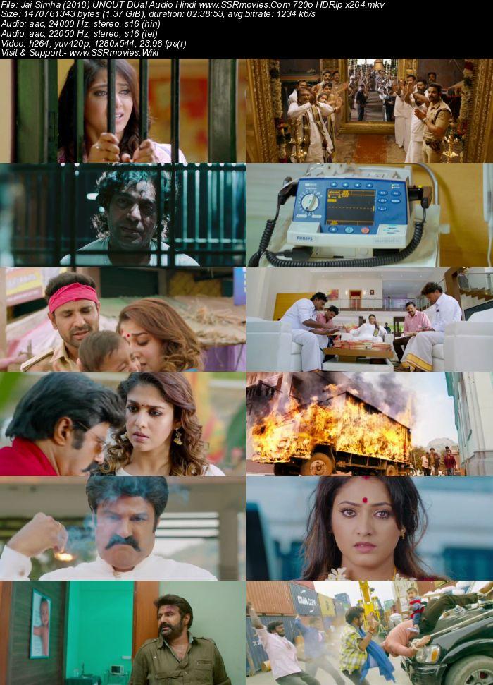 Jai Simha (2018) UNCUT DUal Audio Hindi 720p HDRip x264 1.4GB Movie Download