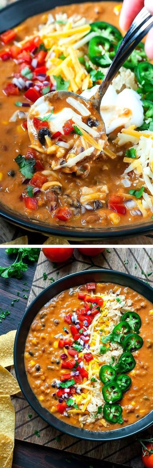 VEGETARIAN LENTIL TORTILLA SOUP (INSTANT-POT + SLOW COOKER) #vegetarian #vegetarianrecipes #lentil #tortilla #soup #souprecipes #instantpot #slowcooker #veggies #veganrecipes