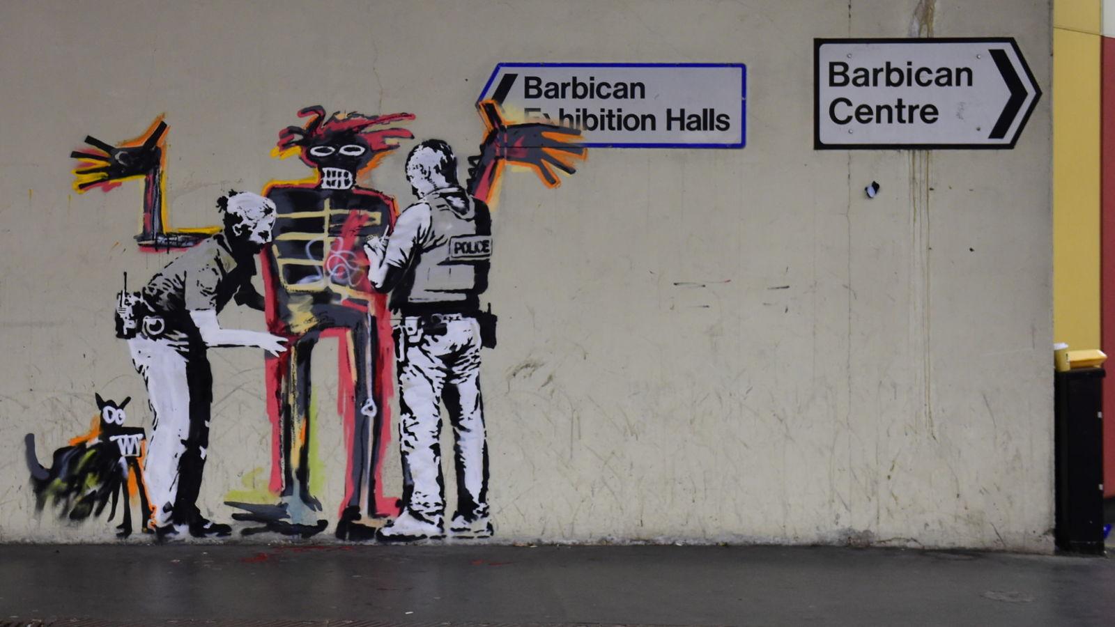 satchel banksy jean michel basquiat at the barbican. Black Bedroom Furniture Sets. Home Design Ideas