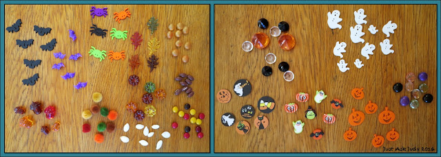 "A variety of ""treasures"" for fall counting activities to use in pre-k to second grade!"