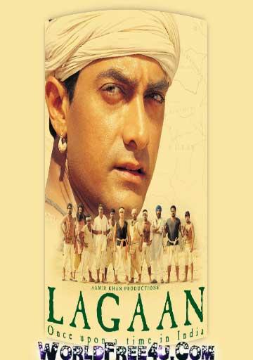 Poster Of Hindi Movie Lagaan (2001) Free Download Full New Hindi Movie Watch Online At worldfree4u.com