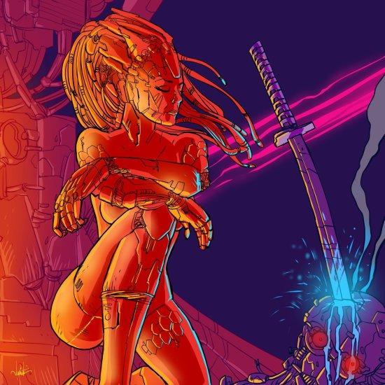 João Antunes Jr. Antunesketch artstation ilustrações arte ficção científica cyberpunk coloridas
