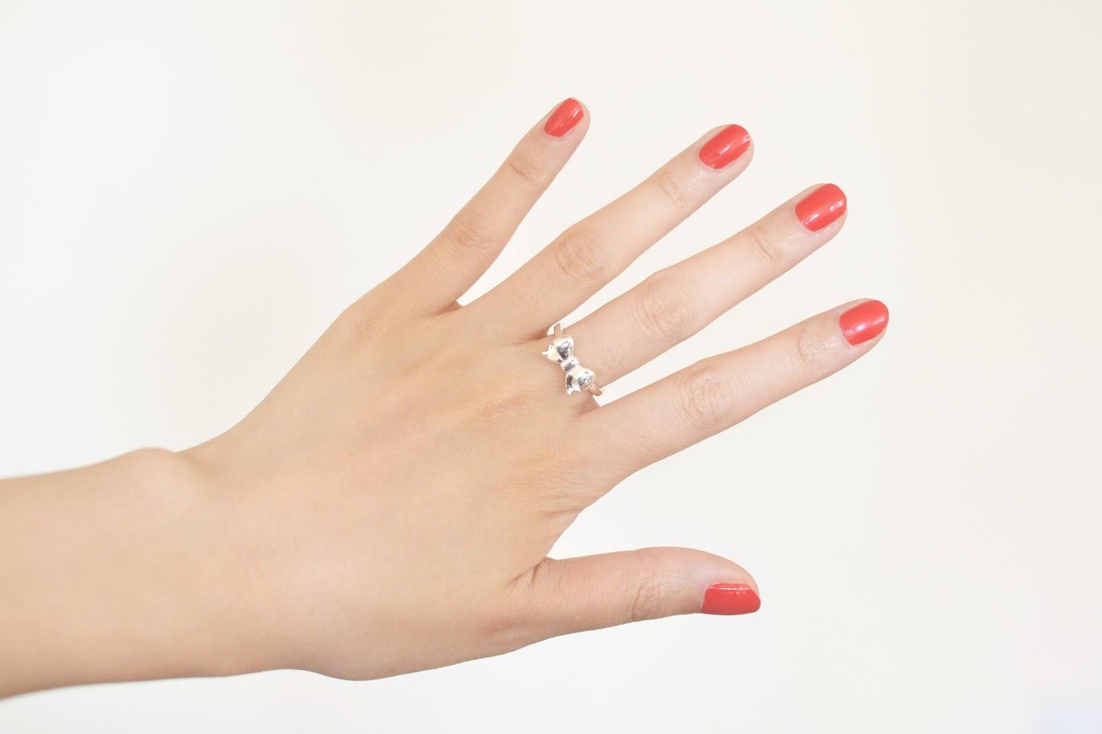 thomas sabo ring, silver bow ring
