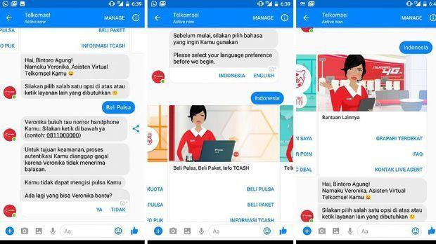 Asisten Virtual Veronika, Membantu dan Memberi Solusi 24 Jam untuk Pelanggan Telkomsel
