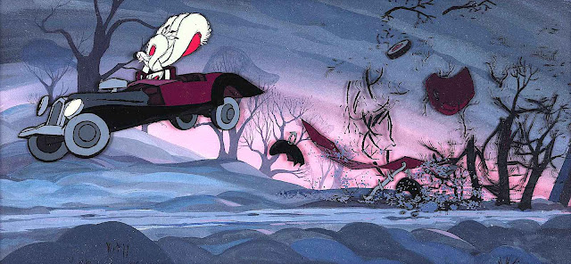 a 1961 animation cell from 101 dalmations, of Cruella deVille