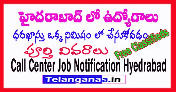 Telangana Jobs in Hyderabad Call Center Jobs