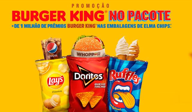promoção burger king no pacote