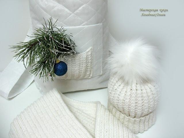 Комплект Снежный Шапка и Шарф