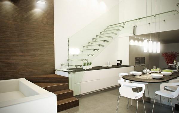 Gambar Anak Tangga Mewah Modern 2 lantai