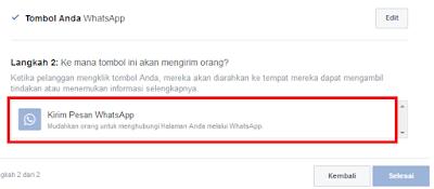 cara memasang tombol whatsapp pada fanspage