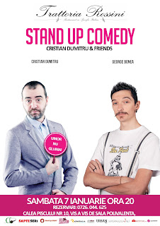 Stand-Up Comedy Sambata 7 Ianuarie Bucuresti