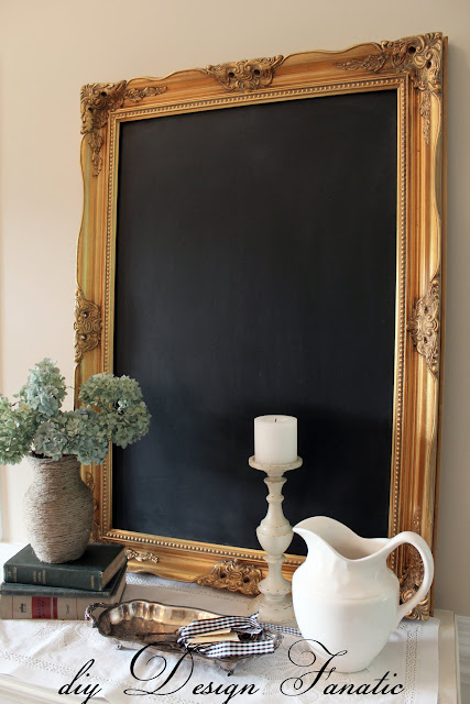 chalk board, make a chalkboard from a mirror, cottage, cottage style, farmhouse, farmhouse style, diyDesignFanatic.com, craft