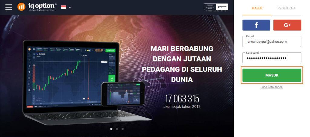 Cara Deposit IQ Option 2017