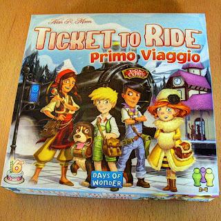 Scatola dell'edizione italiana di Ticket to Ride - Primo Viaggio