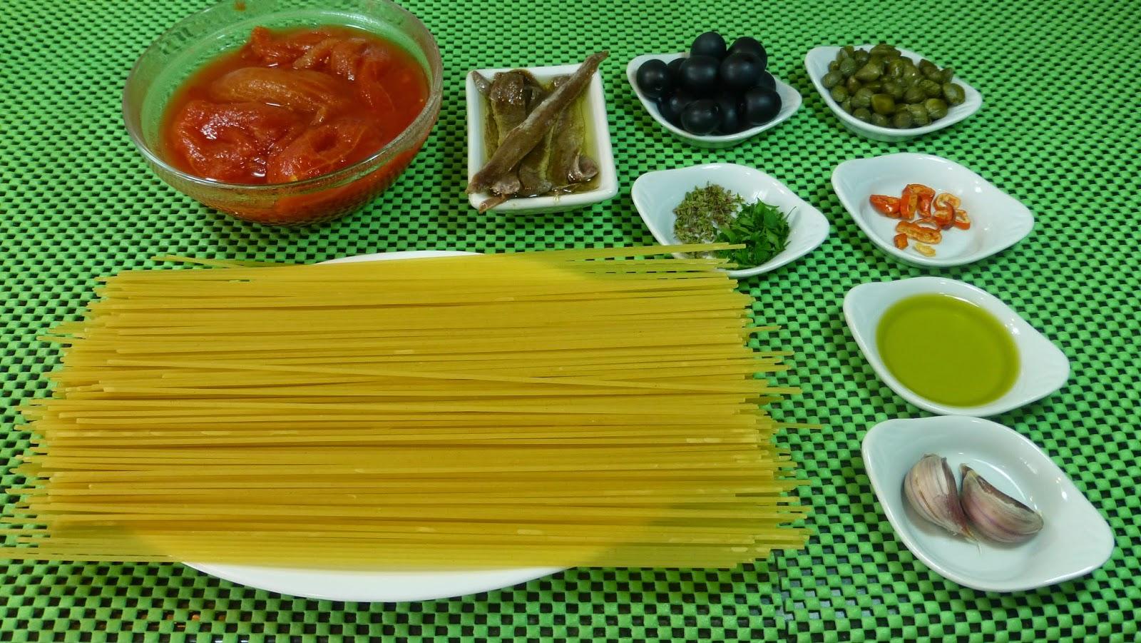 Recetas f ciles de josean mg espaguetis a la putanesca for Espaguetis para dos
