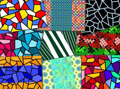 Collage aus verschiedenen Mustern