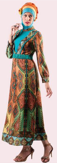 Contoh 6 Model Baju Batik Remaja Muslimah