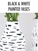 Black and White Painted Vases
