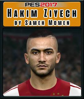 PES 2017 Faces Hakim Ziyech by Sameh Momen