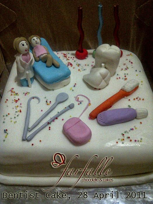 Farfalle Chocolate Amp Cakes Dentist Cake