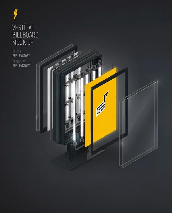 Free PSD Vertical Billboard MockUp