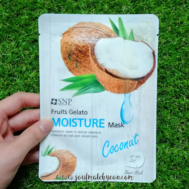Review; SNP's Fruits Gelato Moisture Mask Coconut