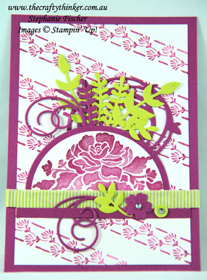 #thecraftythinker, #stamparatus, #stampinup, #cardmaking, #rubberstamping, Floral Phrases, Stamparatus, Hinge-Step, Stampin' Up! Australia Demonstrator, Stephanie Fischer, Sydney NSW
