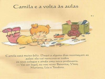 Camila e a volta às aulas