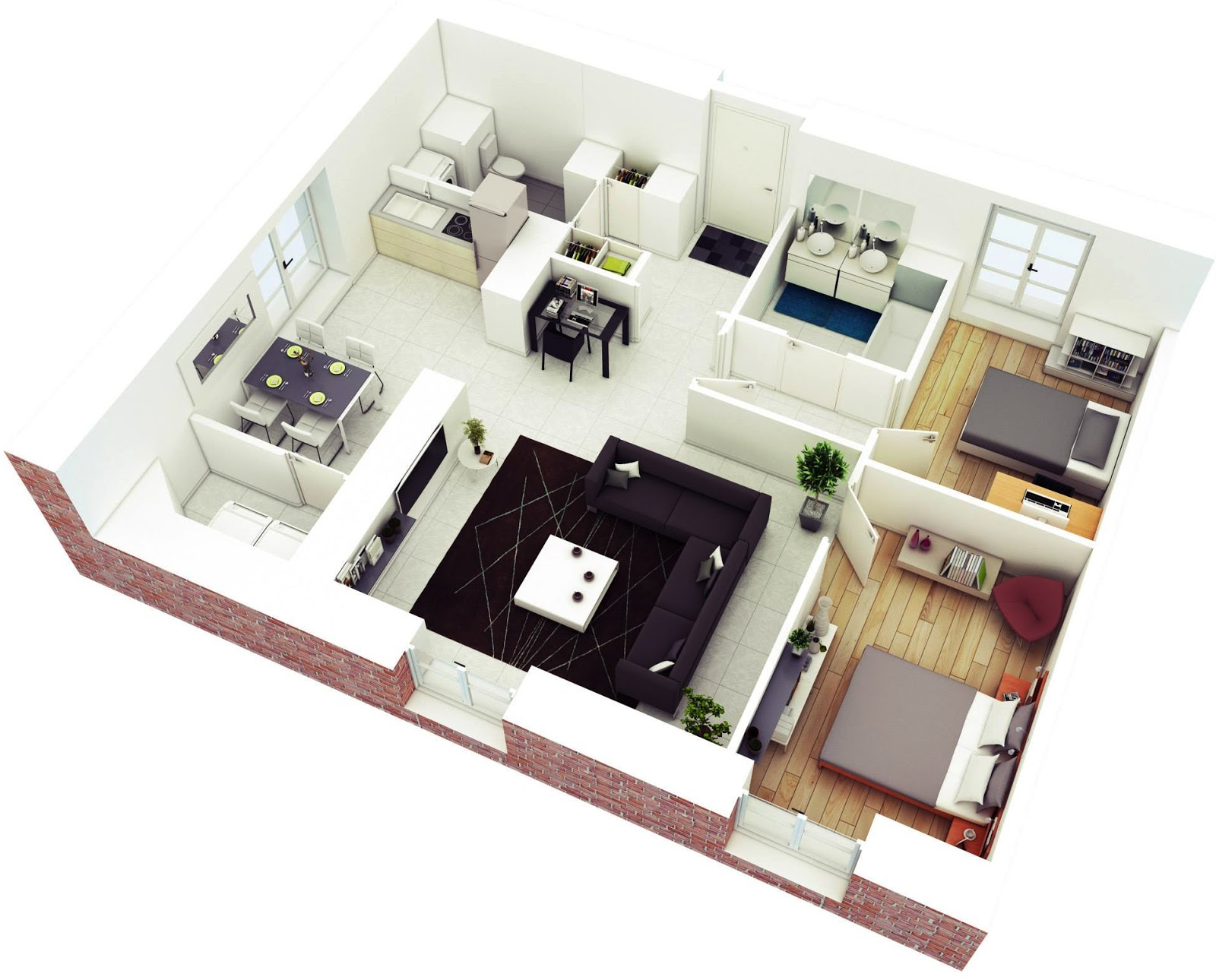 Awesome 3d Floor Plans For Small Or Medium House