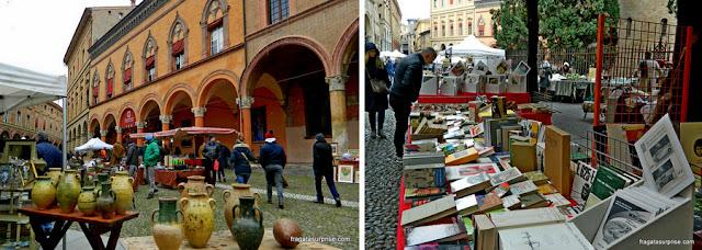 Feira de Antiguidades de Santo Stefano, Bolonha, Itália
