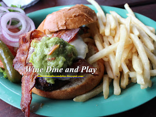The California burger with bacon and guacamole at the Wipeout Grill in San Francisco