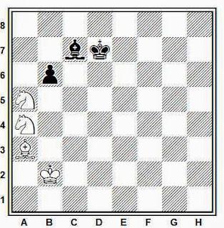 Estudio artístico de ajedrez compuesto por G. M. Kasparyan (Revista Romana de Sah, segundo premio, 1981)