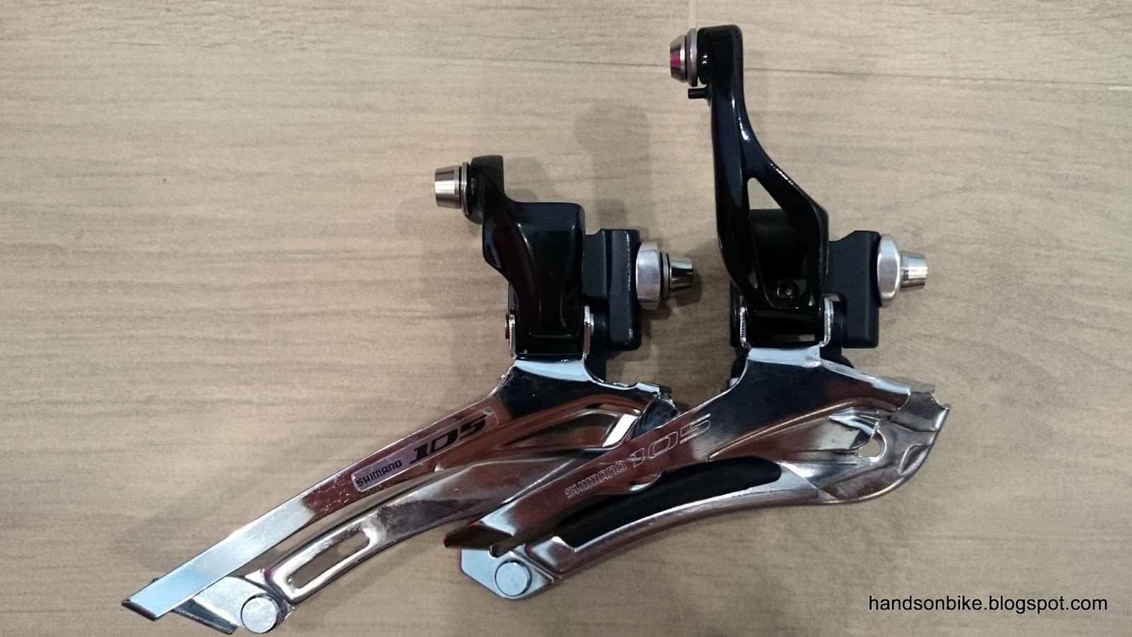 Hands On Bike Shimano 105 5800 Vs 5700 Rear Derailleur And Front Groupset New In Box Fd The Left Right Both Are Brazed Type Not Clamp Band As Shown Here They Look Very Different