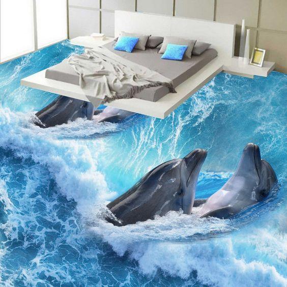 Sàn 3D sử dụng trong phòng ngủ