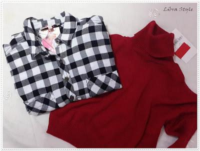 oduncu gömlek,, siyah beyaz douncu gömlek, koton gömlek, shirt, kırmızı kazak, yarım boy kazak, indirimli kış alışverişi, koton kazak, koton gömlek, red knitt