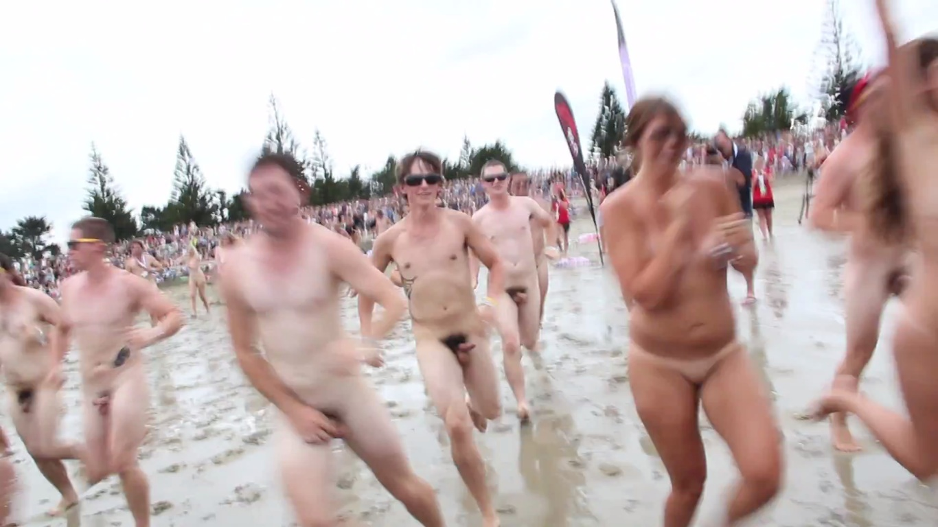 running naked guys