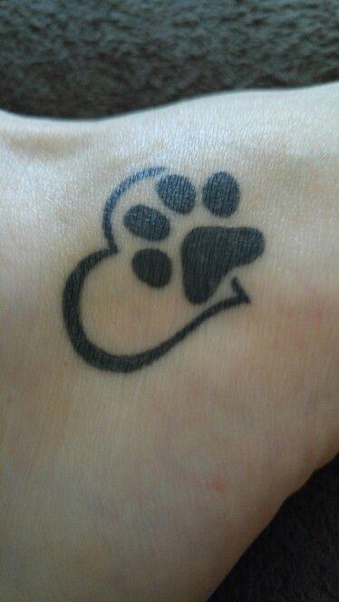 Dog memorial tattoos for Pet memorial tattoos