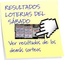 resultados de las loterias del sabado