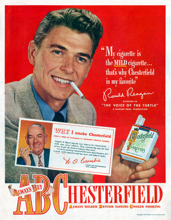 Chesterfield advertising 1948