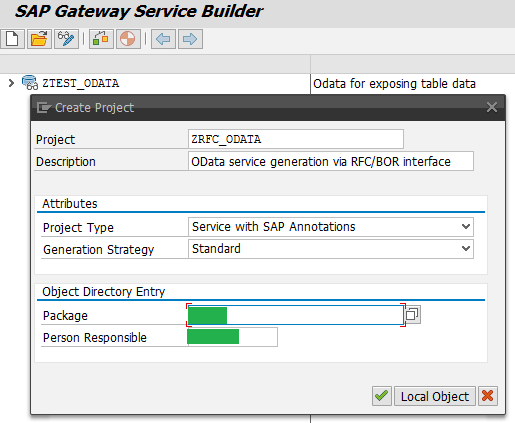 Step by Step Gateway OData Service Creation - method 2