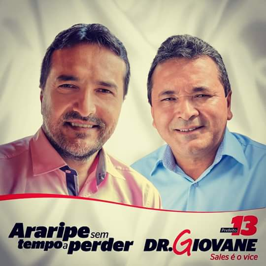 Resultado de imagem para Giovane Guedes Silvestre e seu vice, Francisco de Sales Alves Andrade