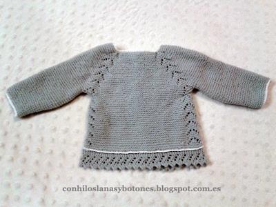 Con hilos, lanas y botones: Jubón gris primera puesta