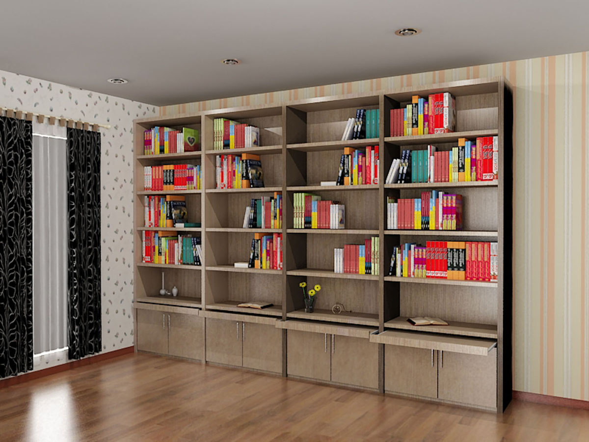 Harga Furniture Rumah Minimalis Rak Buku - Dian Interior Design