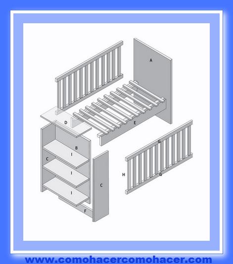 C mo hacer una cuna de mdf y madera web del bricolaje for Como hacer una cajonera de madera paso a paso pdf