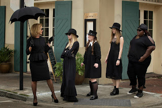 Teenage foursome with Jessica Lange American Horror Story: Coven