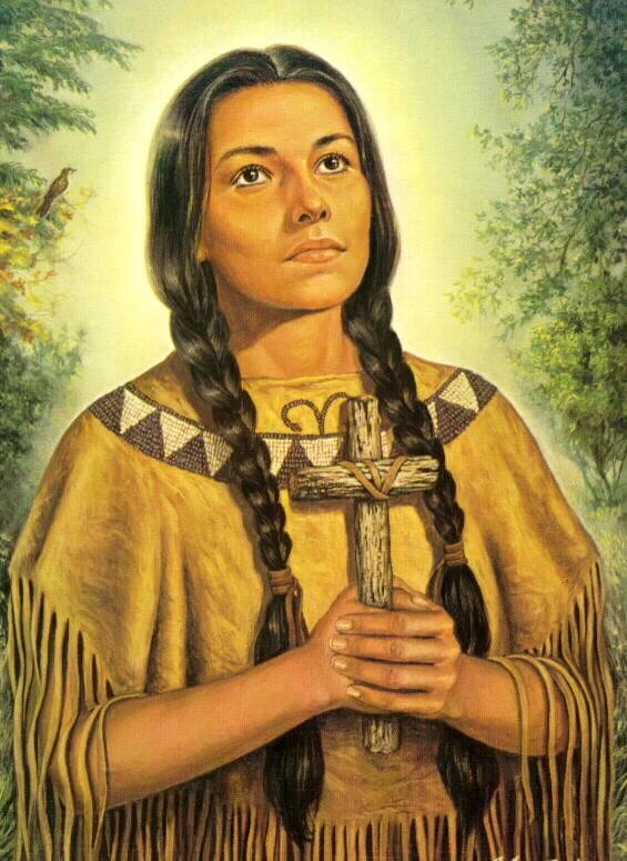 Sainte Kateri Tekakwitha, le « Lys des Agniers » 1ère Sainte amérindienne (1656-1680) Neuvaine Blessed+Kateri+4