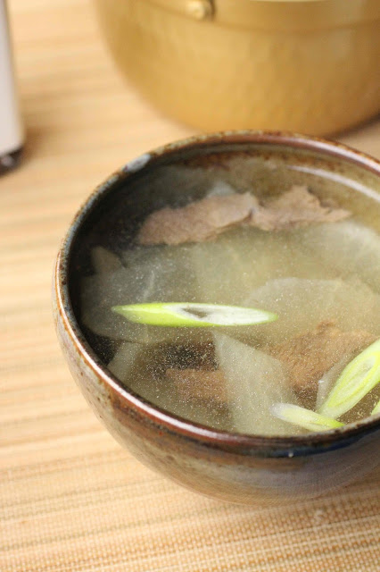 soupe boeuf et daikon radis