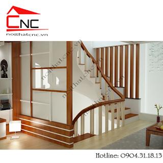 Lam gỗ cầu thang - Trang trí không gian nội thất đẹp