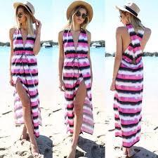 Model Baju Long Dress Pesta di Pantai Modern